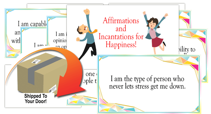 positive affirmations for happiness cards