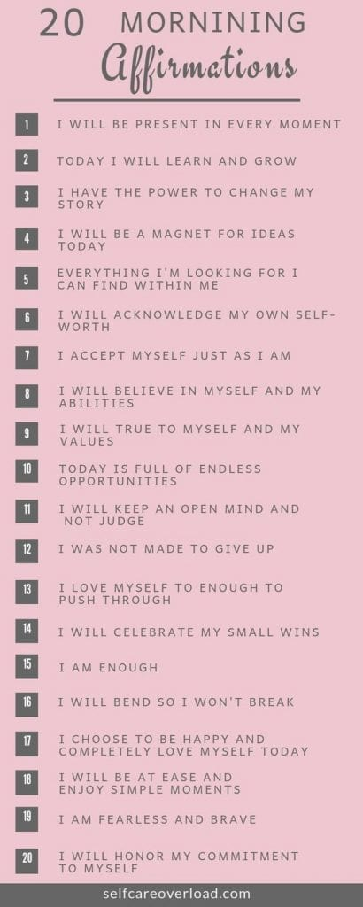 affirmations for mornings